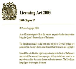 licensing act 2003